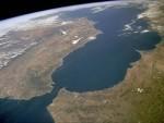 Carte vue du ciel Détroit Gibraltar