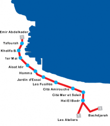 Plan métro Alger