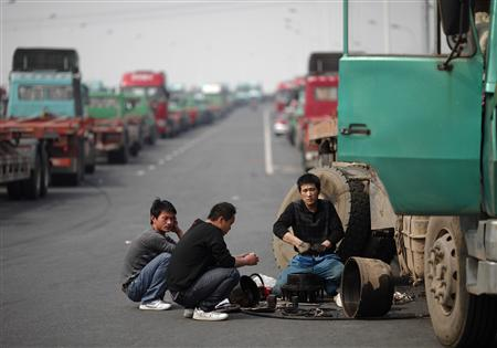 Lorry drivers strike China