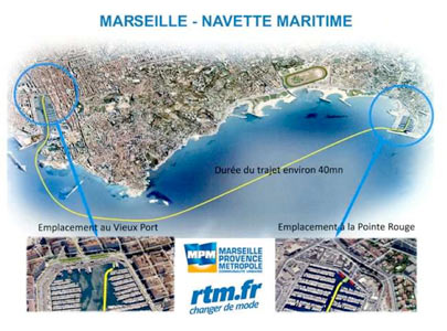 Marseille navette point rouge les passagers en - Navette vieux port pointe rouge marseille ...